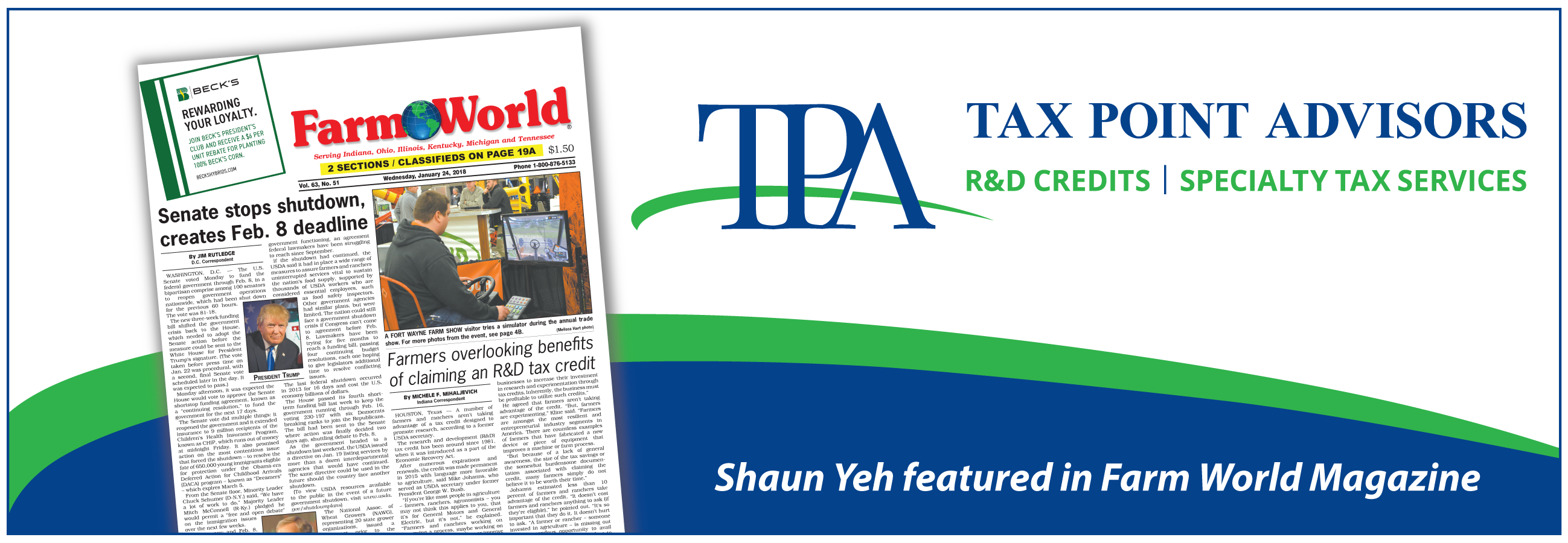 Tax Point Advisors featured in Farm World Magazine