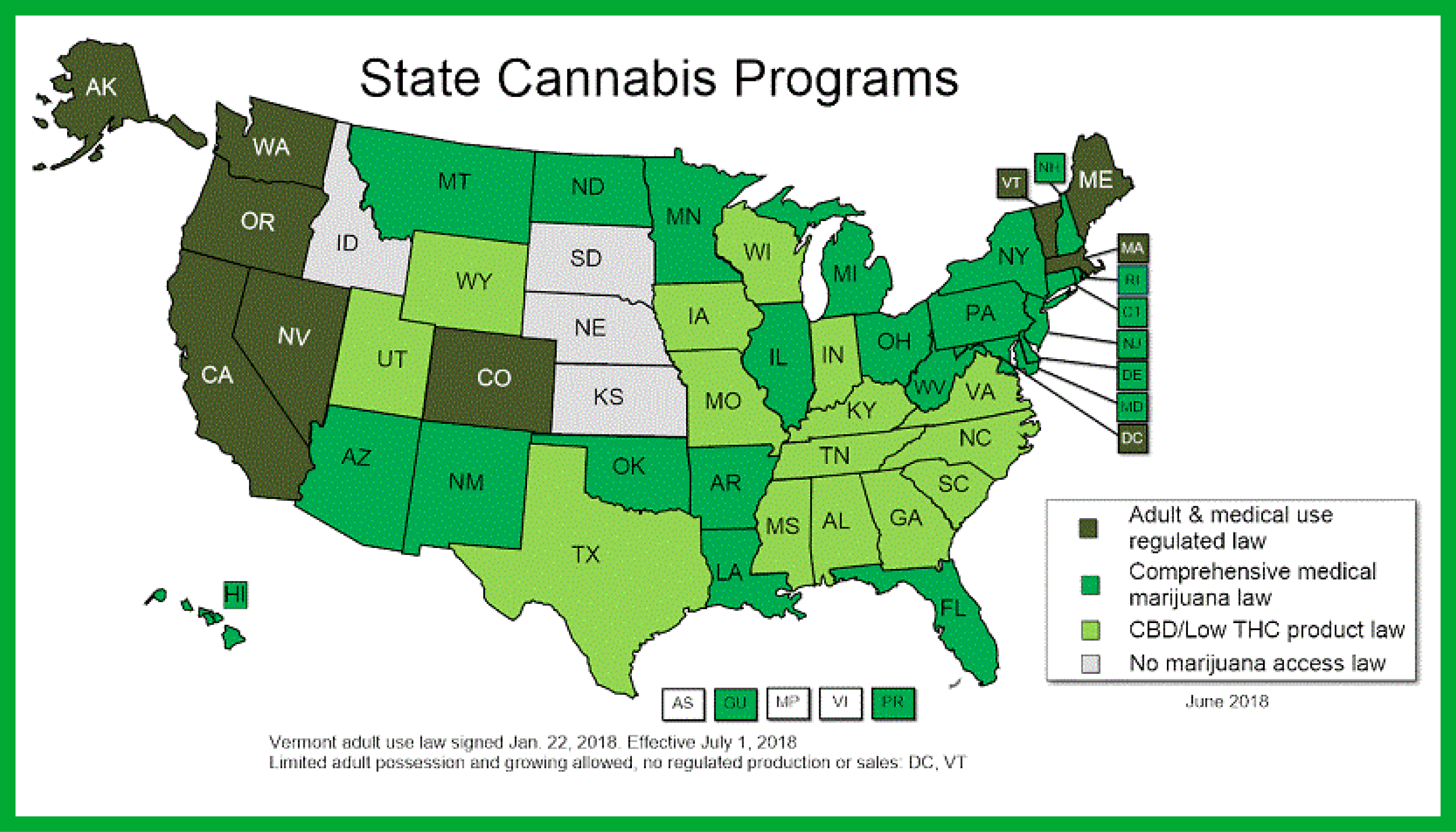 Below Is A Map Outlining Which States Have Ped Medical Or Recreational Cans Laws To Use As Reference When Lying For State R D Tax Credits